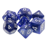 Dark Blue Pearl Dice - 7 Polyhedral Set (Acrylic)