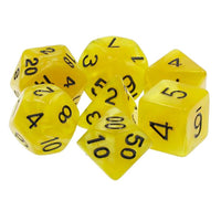 Yellow Pearl Dice - 7 Polyhedral Set (Acrylic)