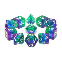 Cool Down Dice - Blue, Purple, & Green Layers - 11 Polyhedral Set