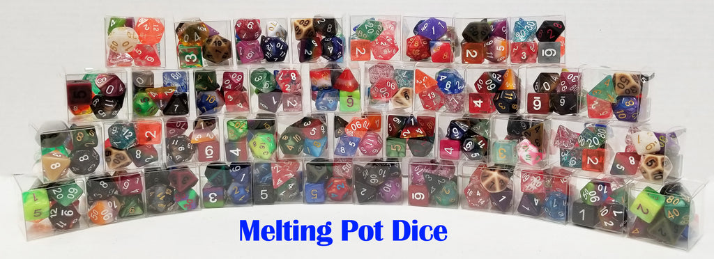 Melting Pot Dice - Random Dice Set - 7 Polyhedral