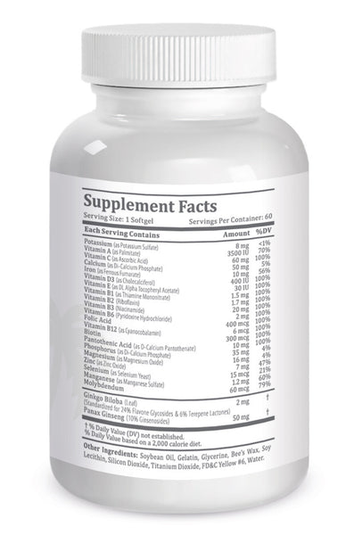 Multivitamin One-A-Day Formula to Enhance Physical and Mental Performance