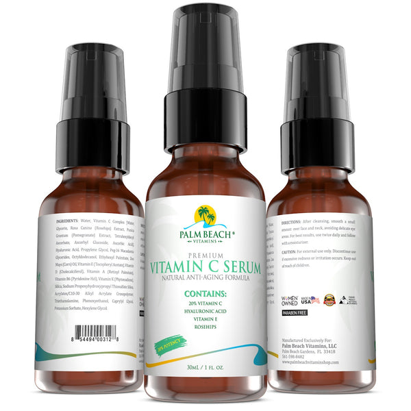 Professional Vitamin C Serum Natural Anti-Aging Formula