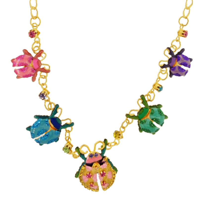 Beetle Necklace For Women - Lunch At The Ritz Necklaces