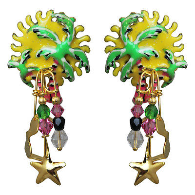 Lunch At The Ritz Hearts of Palm Post Earrings RARE From Esme's Vault
