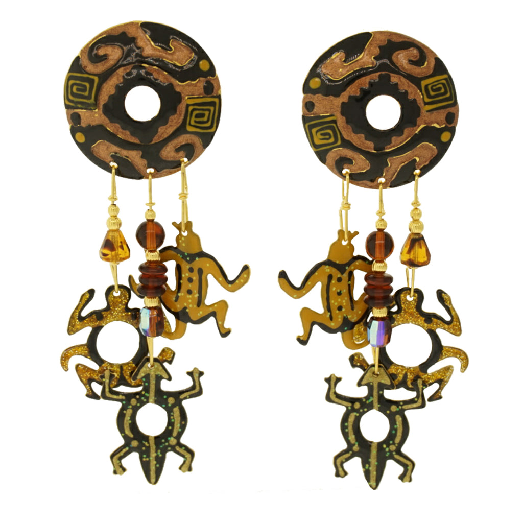 Azteca Post Earrings - Lunch At The Ritz Earrings