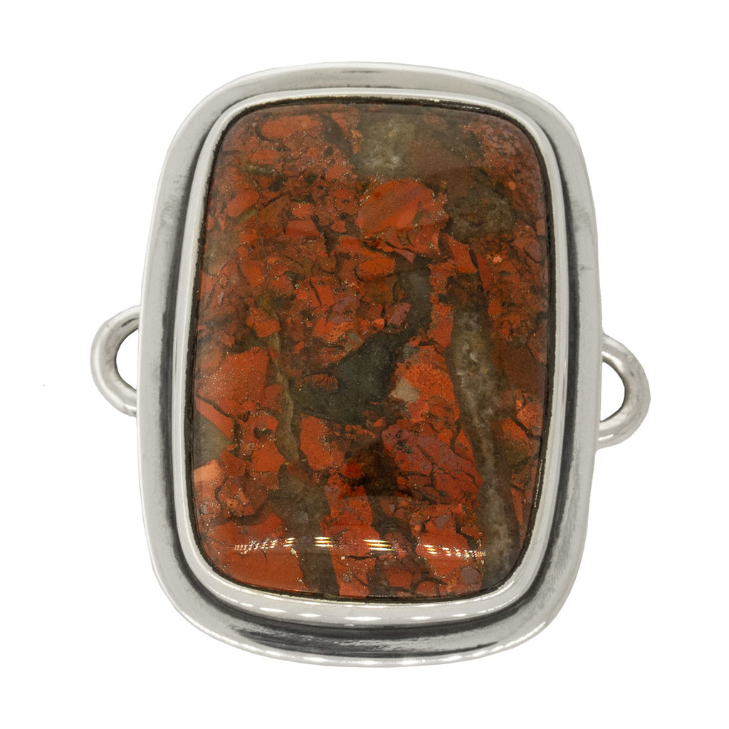 Tabra Jewelry - Sterling Silver Red Jasper Connector Charm