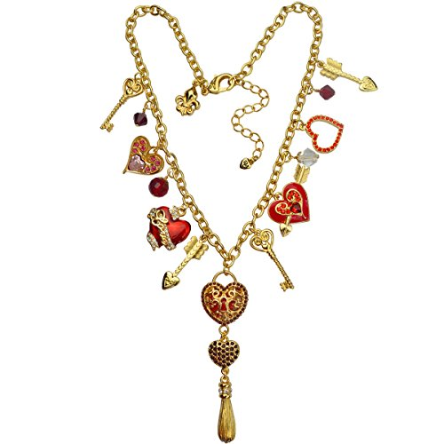 Heart Charm Necklace For women - Arrow Charm Necklace