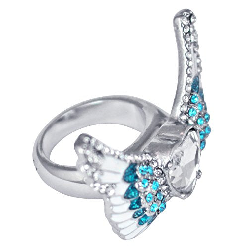 """Angels Among Us"" Heart & Angel Wing Ring"