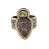 Tabra Jewelry - Sterling Silver Carved Amethyst Ring