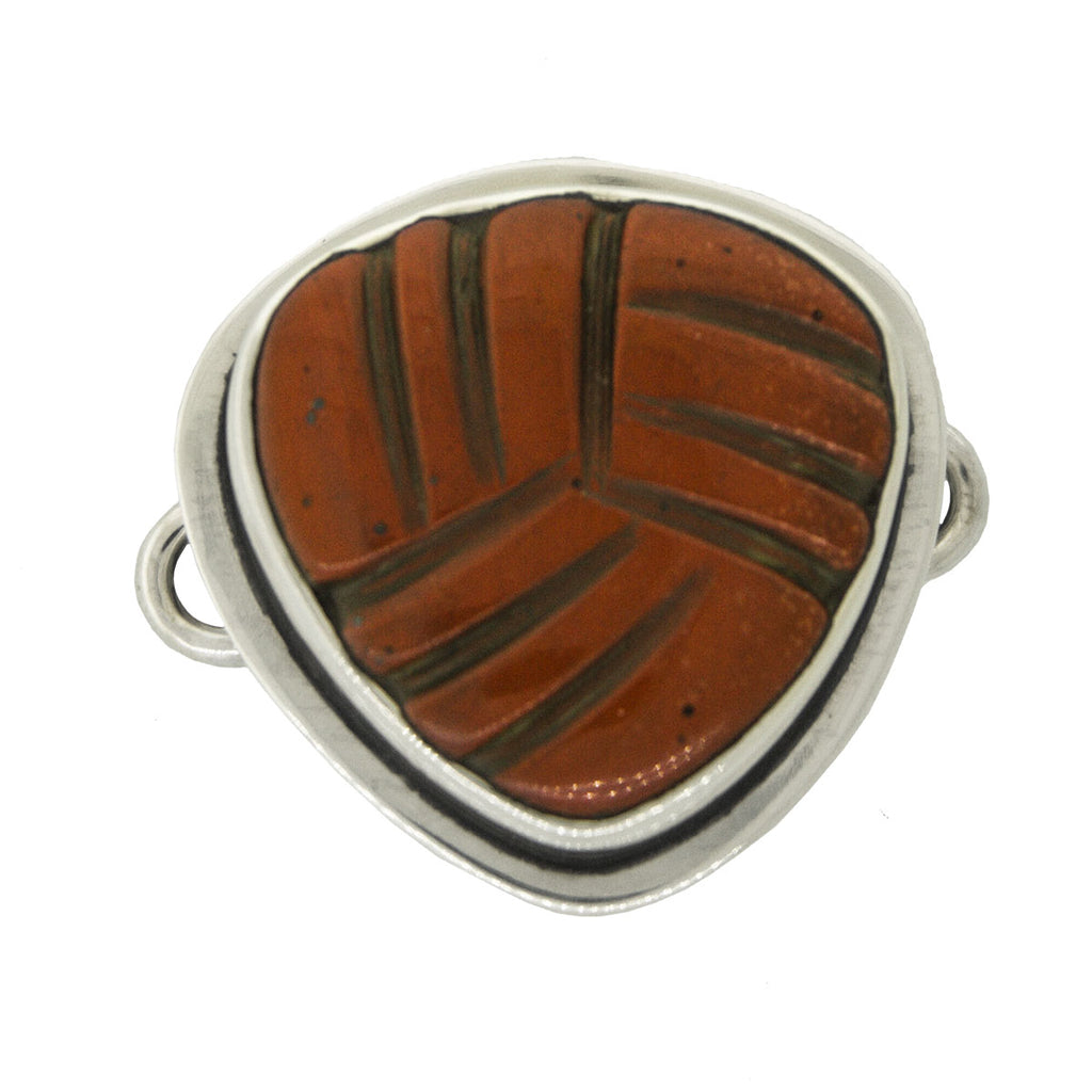 Tabra Jewelry - Silver Red Jasper Connector Charm