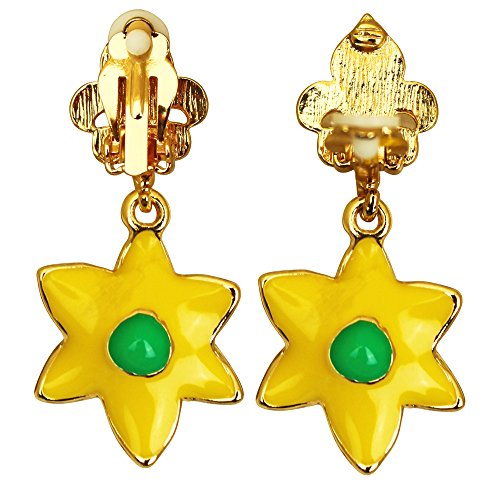 Yellow Daffodil Earrings For Women - Jewelry Earring | Back Side