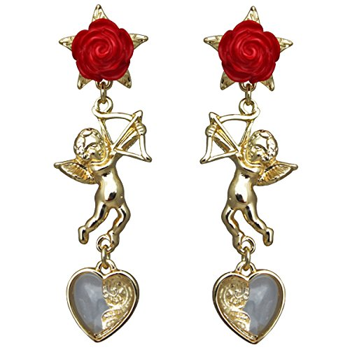 Cupids and Romance Drop Dangle Charm Earrings For Women