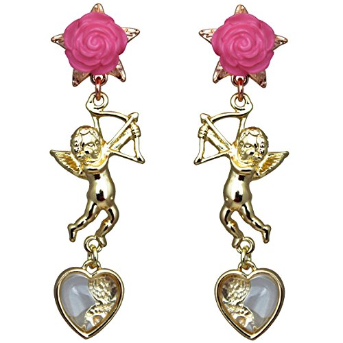 Cupids and Romance Drop Dangle Earrings - Jewelry Earrings