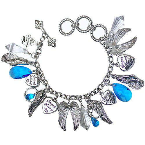 "Charm Bracelet ""Angels Among Us"" Multi Charm Bracelet - Angels Jewelry"