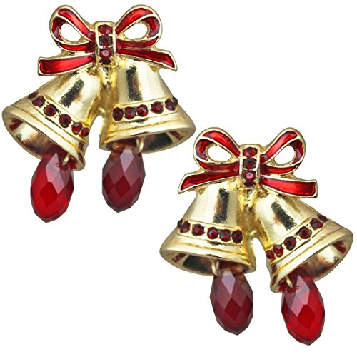 Twas the Night Christmas Bell Stud Earrings For Women
