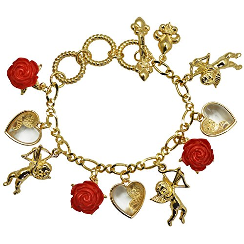 Cupids and Romance Multi Charm Bracelets Jewelry