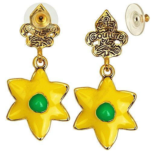 Yellow Daffodil Earrings For Women - Jewelry Earring - Back Side