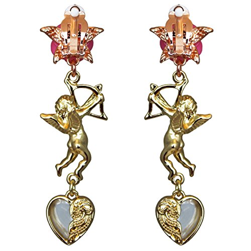 Cupids and Romance Drop Dangle Earrings - Jewelry Earrings - Back Side