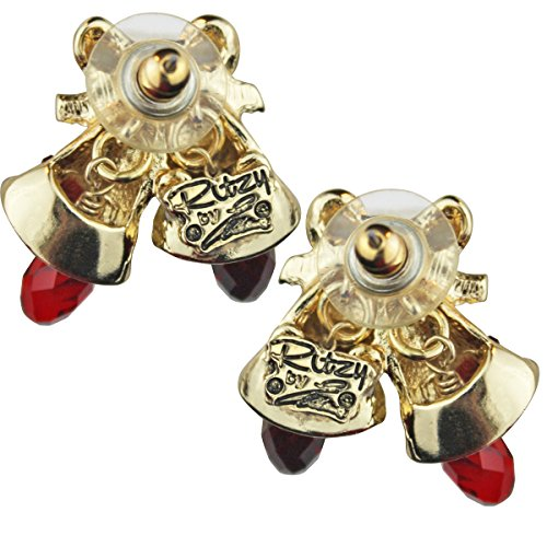 Twas the Night Christmas Bell Stud Earrings For Women - Back Side