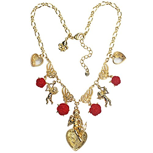 Red Multi Charm Pendant Necklace | Necklace For Women