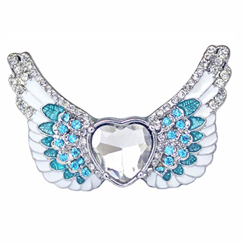 """Angels Among Us"" Heart & Angel Wing Ring - Angel Jewelry"