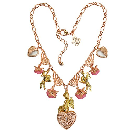 Pink Charm Pendant Necklace - Necklace For Women - Back Side