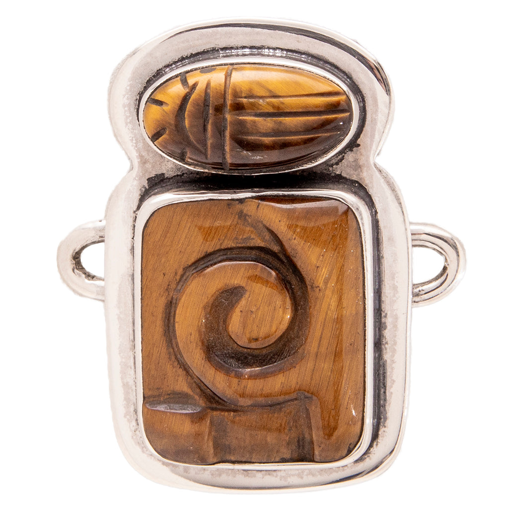 Tabra Jewelry 925 Sterling Silver Tiger Eye Charm