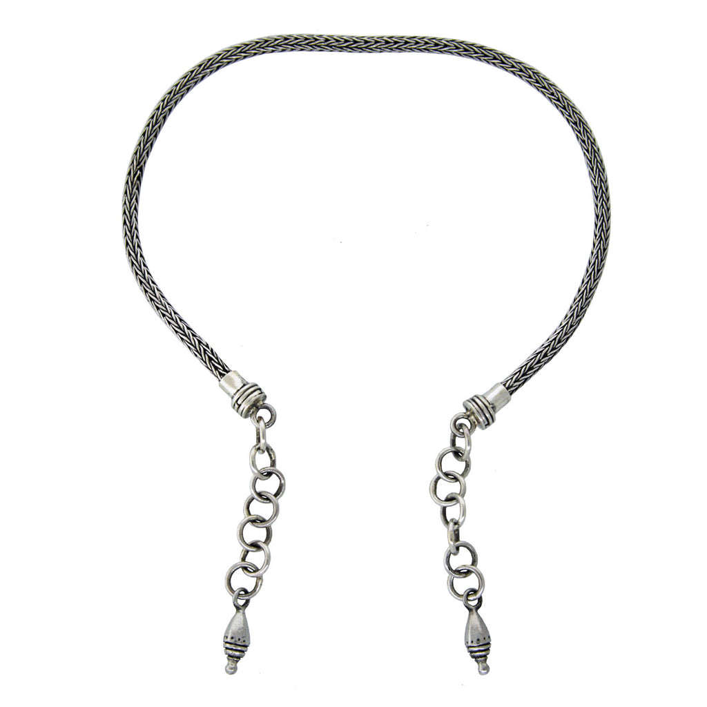 Tabra Jewelry 925 Sterling Silver Anklet Connector Chain Vault AK22 (Large)