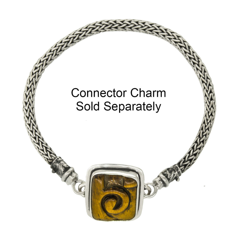 Tabra Jewelry - Sterling Silver Bracelet Connector Chain With Charm