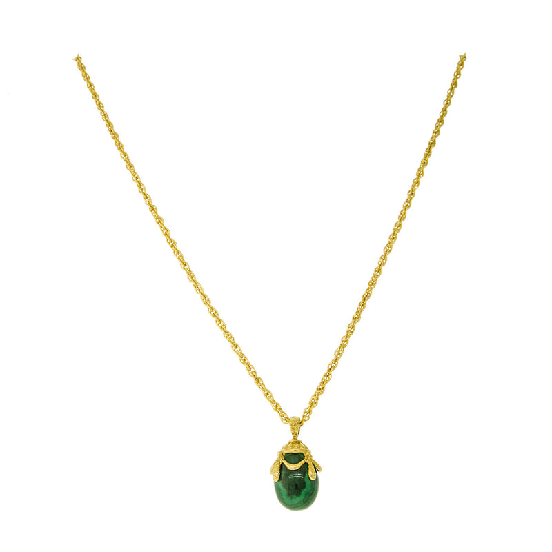 Malachite Egg - Charm Pendant Necklaces For Women