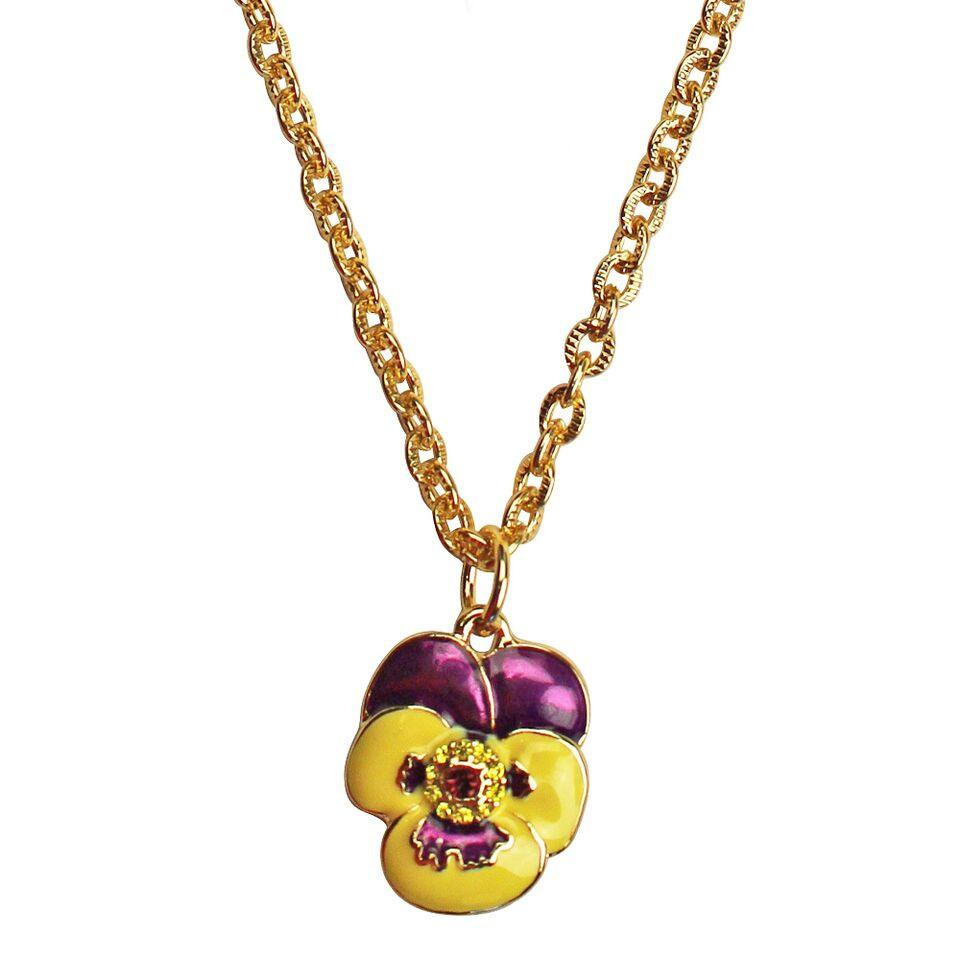 Pansy Single Multicolor Charm Necklace | Necklace Jewelry