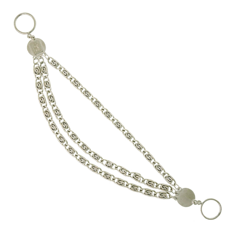 Lunch At The Ritz Jewelry | Small Silver Toggle Anklet