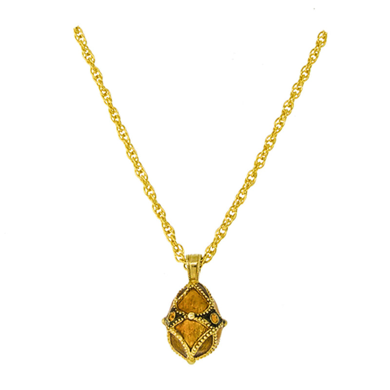 Topaz Egg Charm Pendant Necklaces For Women