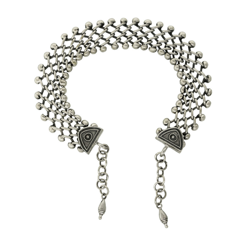 Tabra Jewelry Silver Anklet Connector Chain - Back Side