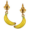 Yellow Banana Leverback Charm Earrings | Banana Earrings | Back Side