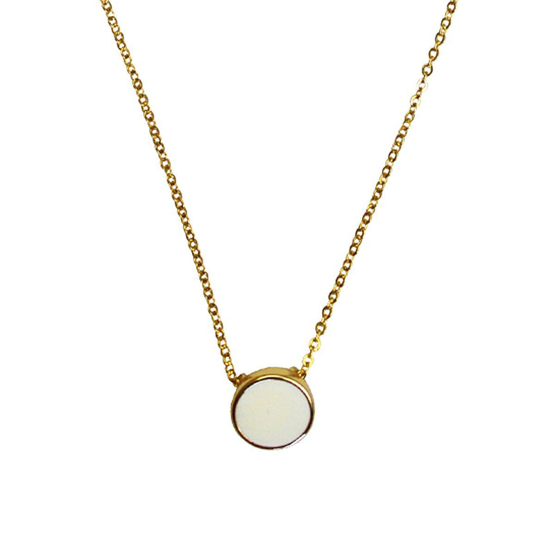 White Enamel Necklace For Women - Necklace Jewelry