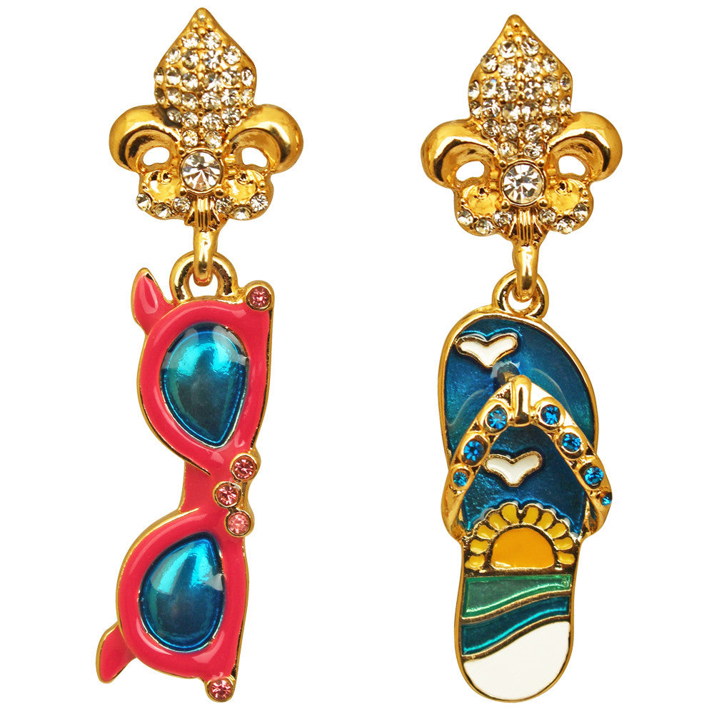 Summer Sunglass & Flip Flop Earrings For Women