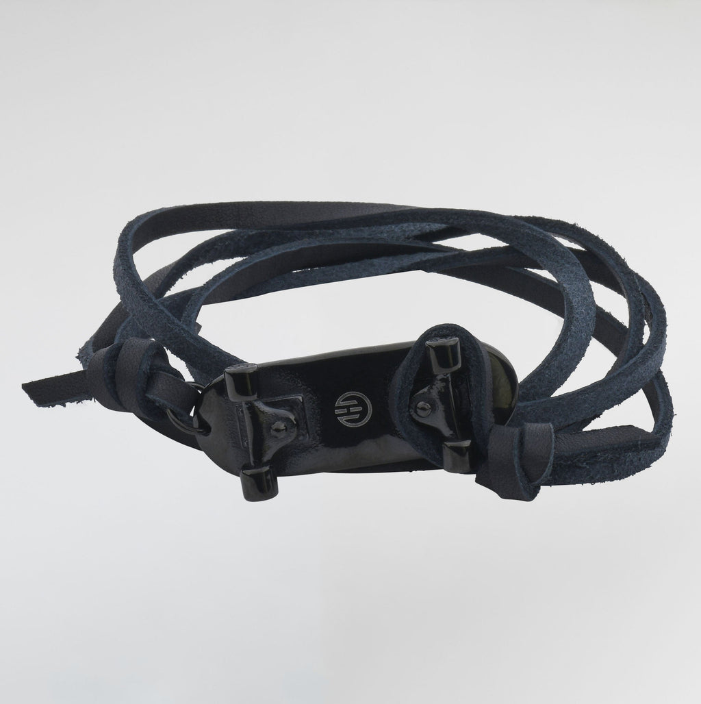 Skateboard Passion Leather Bracelet For Men from Esme's Vault