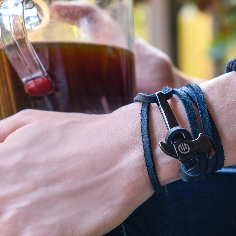 Axe Bracelets for Men | Leather Axe Bracelets