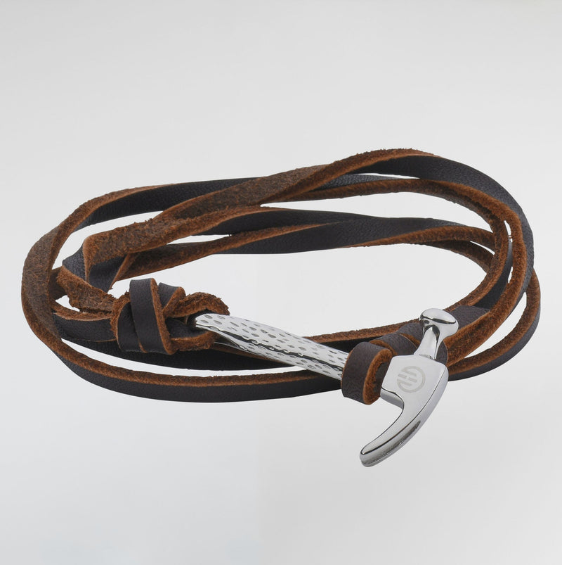 Hammer Passion Leather Bracelets - Bracelets For Men - Brown