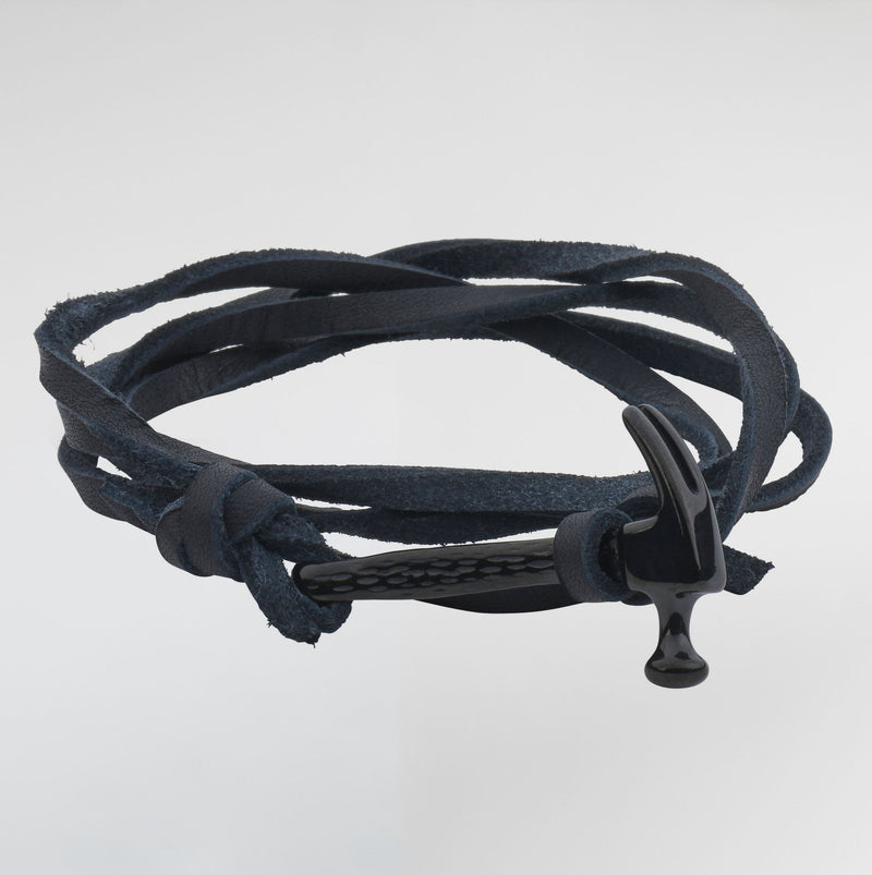 Hammer Passion Leather Bracelets - Bracelets For Men - Black