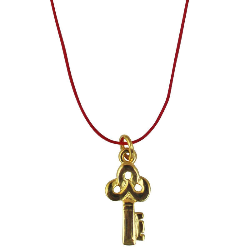 Key Charm Pendant Necklace - Necklace Jewelry