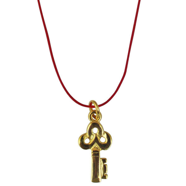 "Key Charm Pendant Necklace Set (Goldtone) Ritzy ""Couture Select"""