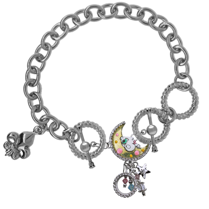 Moon Swirl Links Charms - Lunch At The Ritz Charms - Bracelet Chain