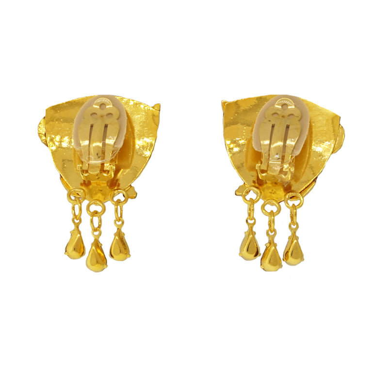 Siamese Cat Clip Earring For Women - Lunch At The Ritz - Back Side