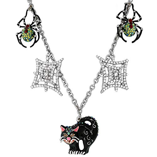 Halloween Black Cat Nacklace | Halloween Spider Necklace