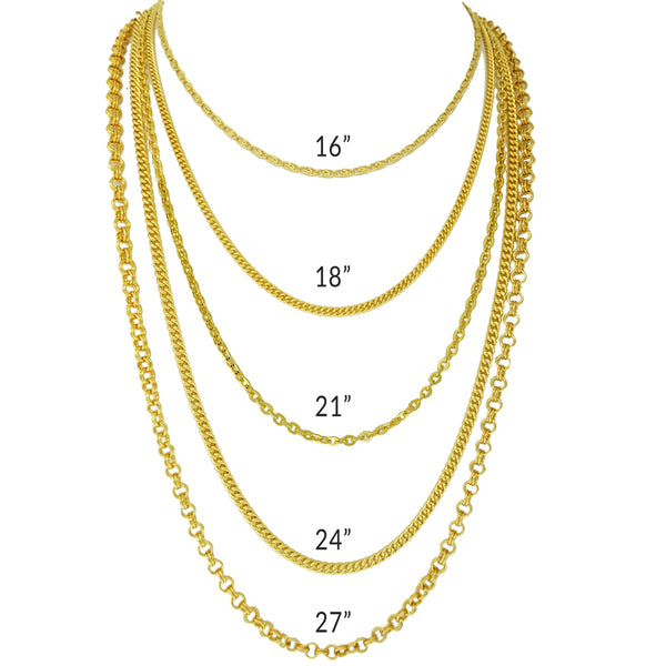 Assortment Necklace Chain For Enhancer Charms - All Chains