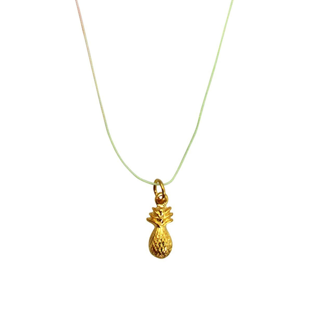 Pineapple Charm Pendant Necklace - Necklace For Women