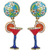 Pool Party Cocktail Charm Earrings | Cocktail Earrings