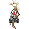 Shopping Accessories Multi Color Charm Necklace Jewelry - Back Side